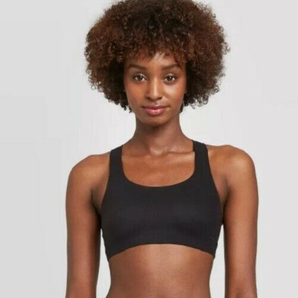 Auden Other - Women's Unlined Racerback Bralette Auden Black new